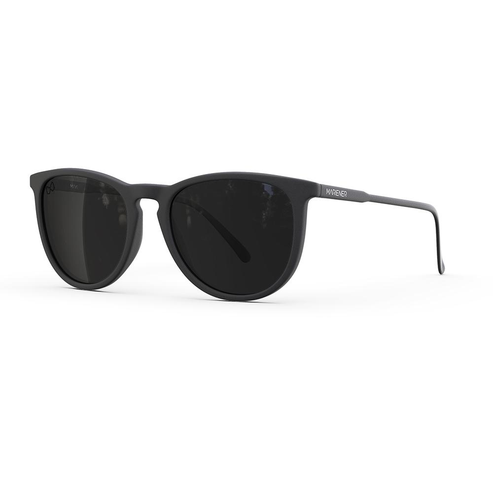 Mariener-Maki-Round-Rubber-Matte-Black-Dark-Smoke-Polarized-Sunglasses-Gepolariseerde-Zwarte-Zonnebril-Angle