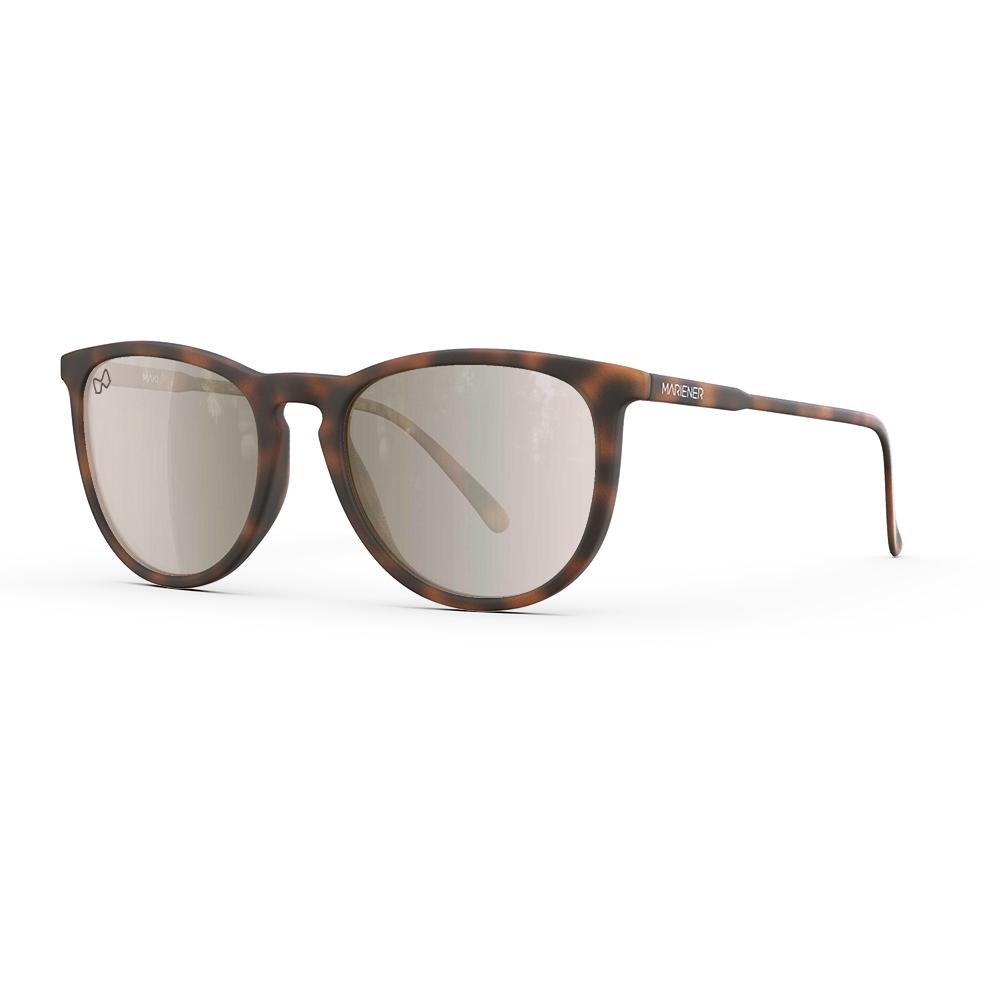 Mariener-Maki-Round-Rubber-Tortoise-Amber-Silver-Sunglasses-Bruine-Zonnebril-Angle