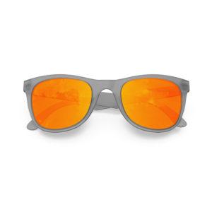 Melange Jr – Frozen Grey | Orange Lava Wayfarer Kids Sunglasses