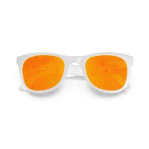 Melange Jr – Matte White | Orange Lava Wayfarer Kids Sunglasses