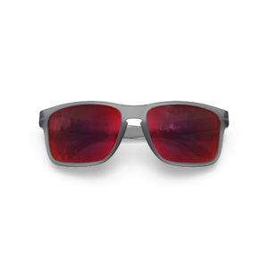 Makan – Frozen Grey | Red Lava Rectangular Sunglasses