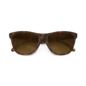 Melange – Matte Tortoise Rubber | Amber Gradient Wayfarer Sunglasses