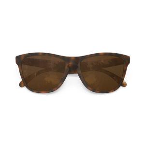 Melange – Matte Tortoise Rubber | Dark Brown Polarized Wayfarer Sunglasses