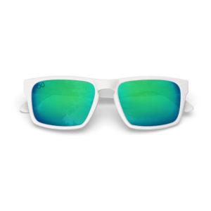 Makan Jr – Matte White | Ocean Rectangular Kids Sunglasses