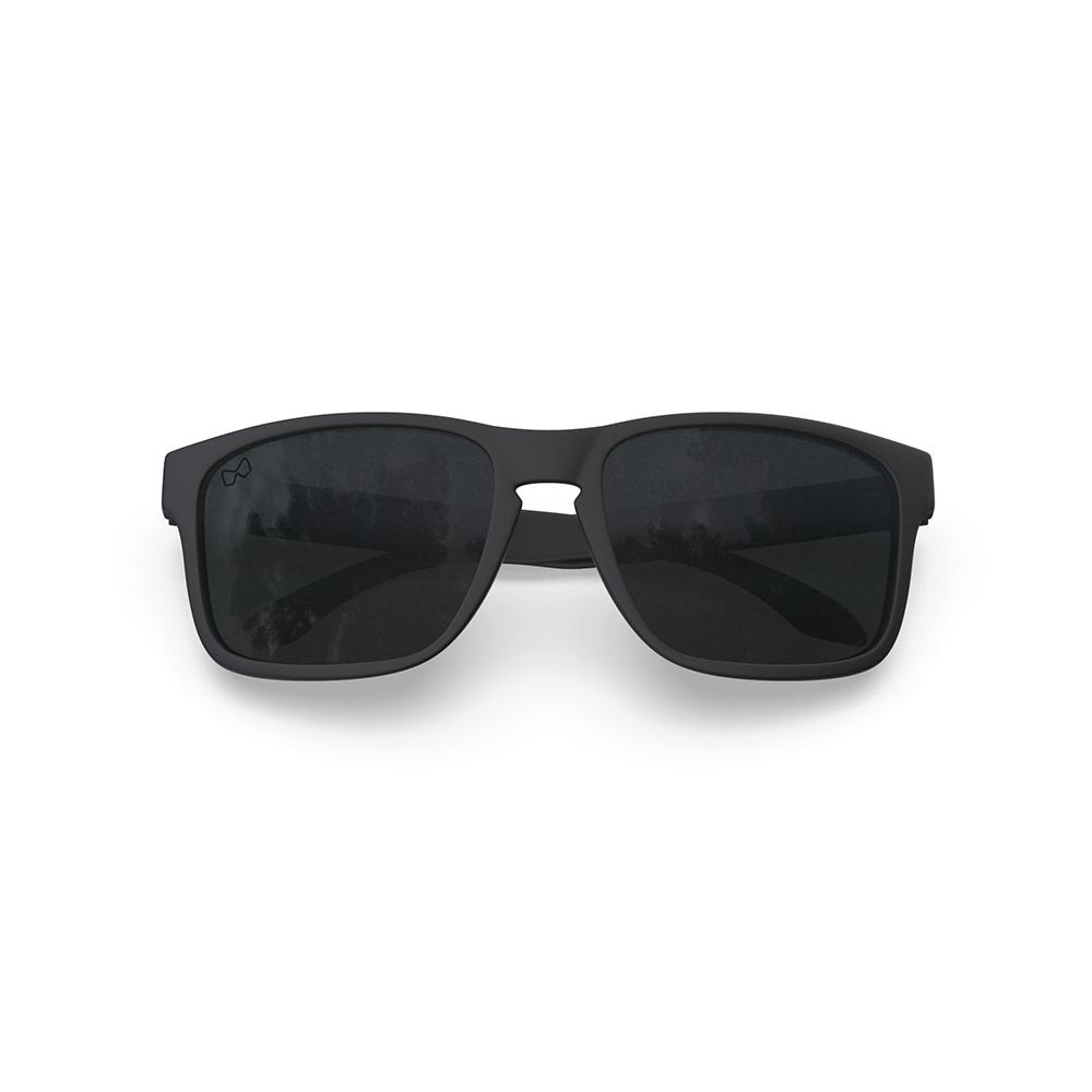 Mariener-Melange-Makan-Matte-Black-Rubber-Dark-Smoke-Polarized-Lens-Adult-Sunglasses-Gepolariseerde-Zonnebril-Volwassenen-Folded