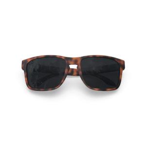 Makan – Matte Tortoise Brown Rubber | Dark Smoke Polarized Rectangular Sunglasses