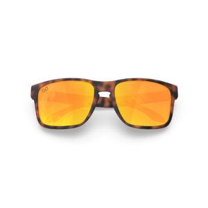 Makan – Matte Tortoise Brown Rubber | Orange Lava Rectangular Sunglasses