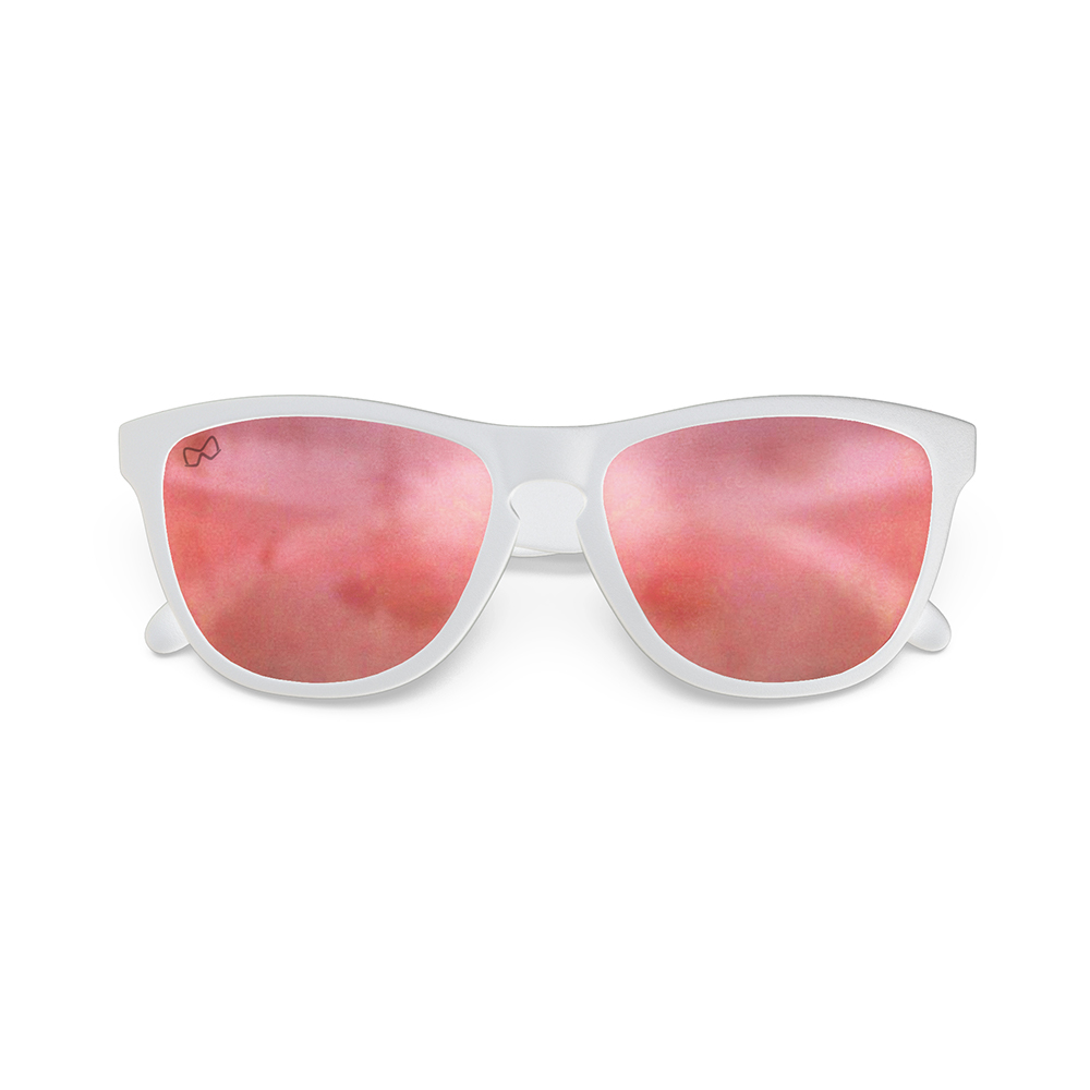 Mariener-Melange-Wayfarer-Matte-White-Rubber-Matte-Reflective-Red-Lava-Wayfarer-Sunglasses-Matte-Lens-Zonnebril-Folded