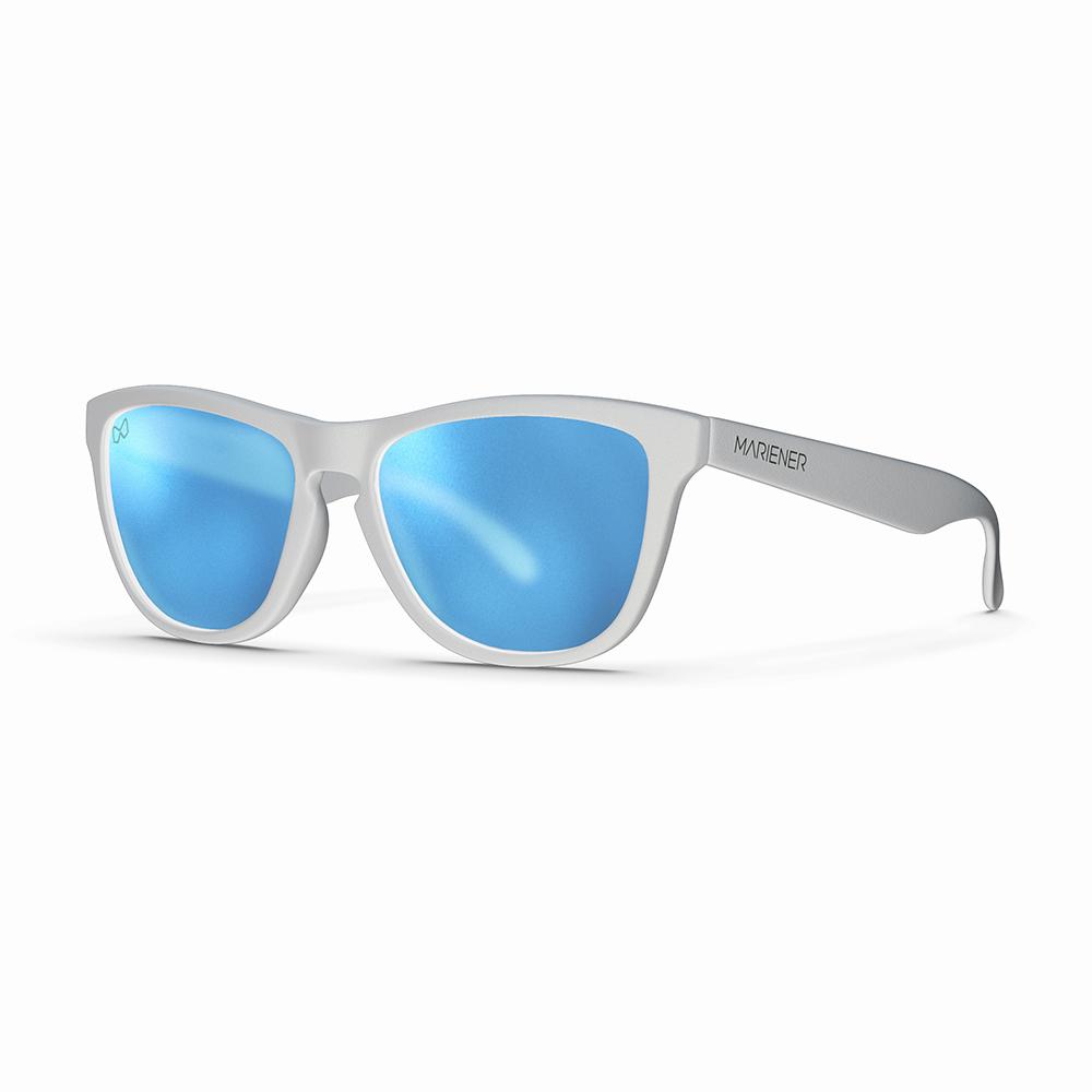 Mariener-Melange-Wayfarer-Matte-White-Rubber-Matte-Reflective-Sky-Wayfarer-Sunglasses-Matte-Lens-Zonnebril-Angle